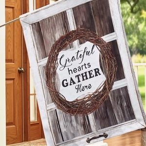 Large House Flag-NEW- Christian Farmhouse Grateful